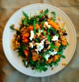 The Best Salad I've Ever Made (Or Sweet Potato Walnut Salad with Arugula)